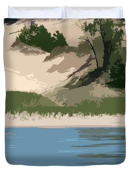 Dunes of Lake Michigan Duvet Cover by Michelle Calkins