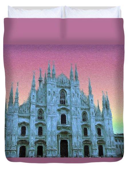 Duomo Di Milano Duvet Cover by Jeff Kolker