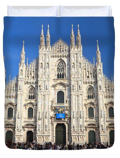 Duomo in Milano. Italy Duvet Cover by Antonio Scarpi