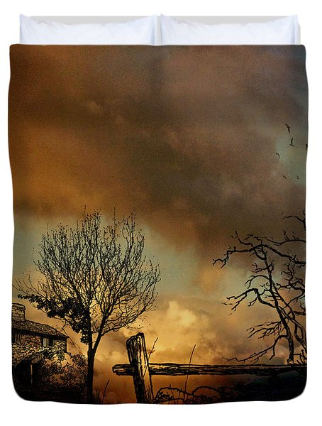 Dusk Duvet Cover by Cheryl Young