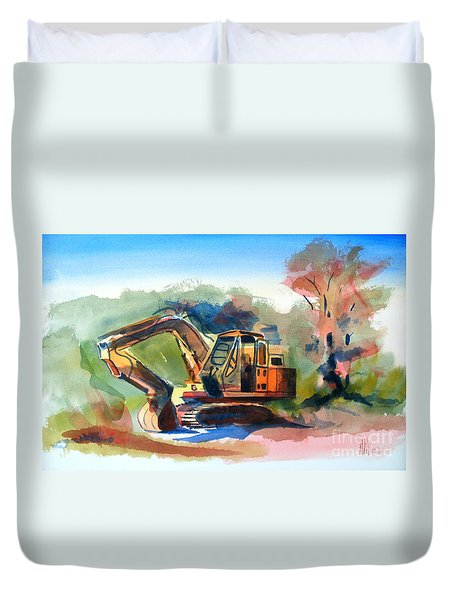 Duty Dozer Duvet Cover by Kip DeVore