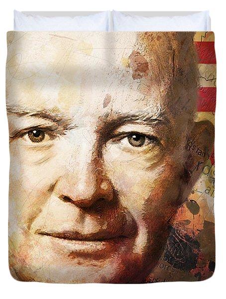 Dwight D. Eisenhower Duvet Cover by Corporate Art Task Force