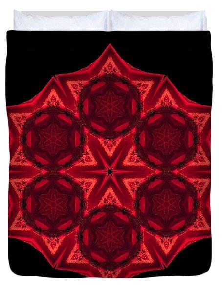 Dying Amaryllis IIi Flower Mandala Duvet Cover by David J Bookbinder