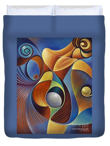 Dynamic Series #22 Duvet Cover by Ricardo Chavez-Mendez