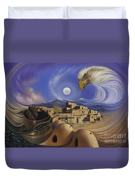 Dynamic Taos Ill Duvet Cover by Ricardo Chavez-Mendez