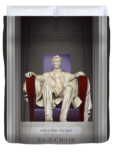 Ea-z-chair Lincoln Memorial 2 Duvet Cover by Mike McGlothlen