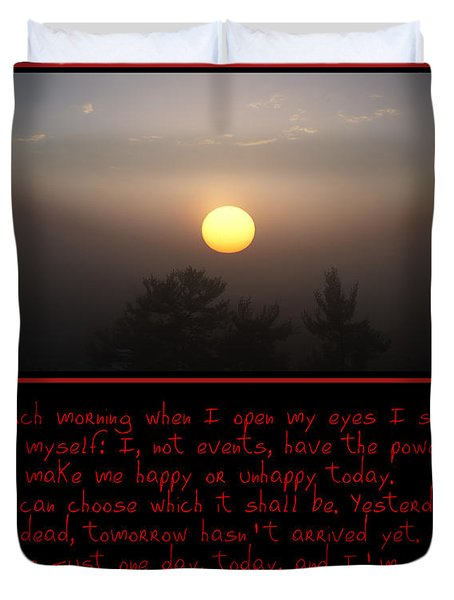Each Morning Duvet Cover by Bill Cannon