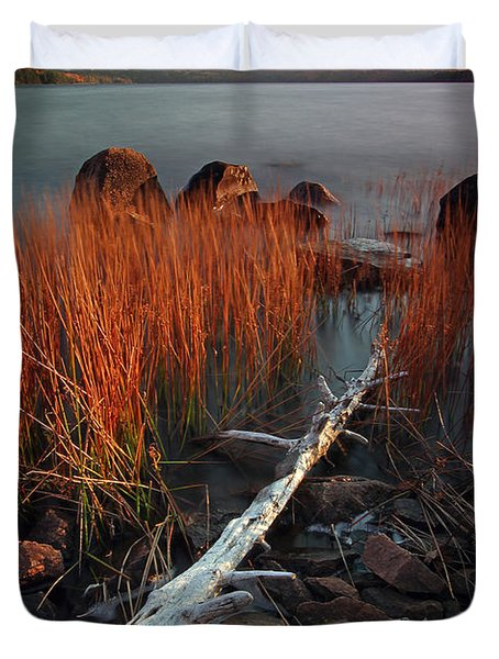 Eagle Lake at Autumn Duvet Cover by Juergen Roth
