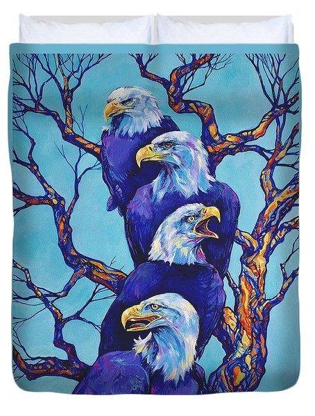 Eagle Tree Duvet Cover by Derrick Higgins