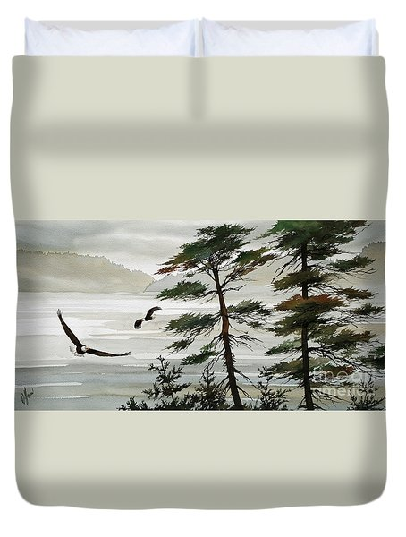 Eagles Eden Duvet Cover by James Williamson