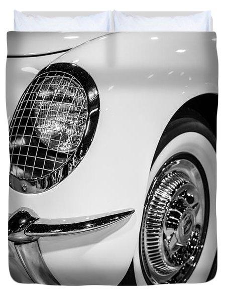 Early 1950's Chevrolet Corvette Duvet Cover by Paul Velgos