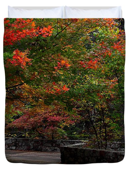 Early Fall At Talimena Park Duvet Cover by Robert Frederick