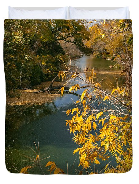 Early Fall On the Navasota Duvet Cover by Robert Frederick