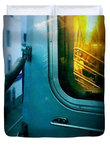 Early Morning Commute Duvet Cover by James Aiken
