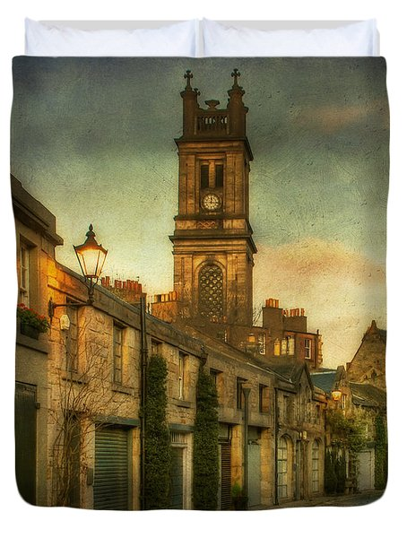 Early Morning Edinburgh Duvet Cover by Lois Bryan