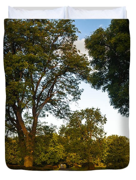 Early Morning On The Way To Trossachs. Scotland Duvet Cover by Jenny Rainbow