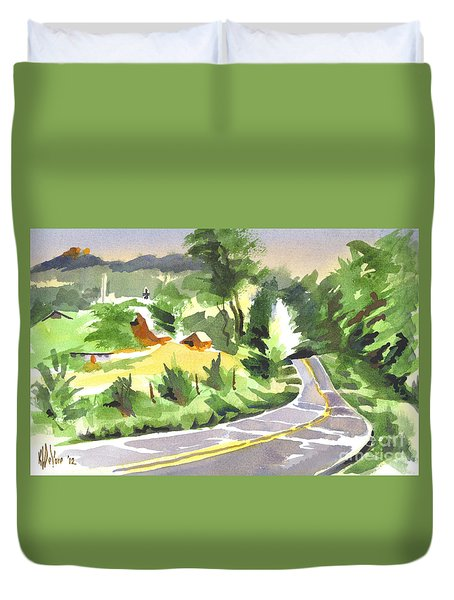 Early Morning Out Route Jj Duvet Cover by Kip DeVore