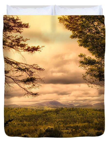 Early Spring Rain Duvet Cover by Bob Orsillo