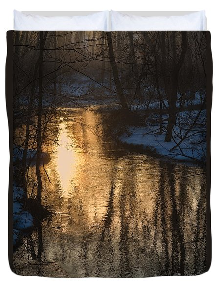 Early Winter Morning Duvet Cover by Karol Livote
