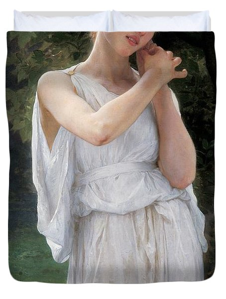 Earrings Duvet Cover by William Adolphe Bouguereau
