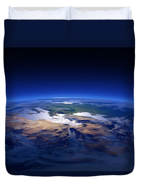 Earth - Mediterranean Countries Duvet Cover by Johan Swanepoel