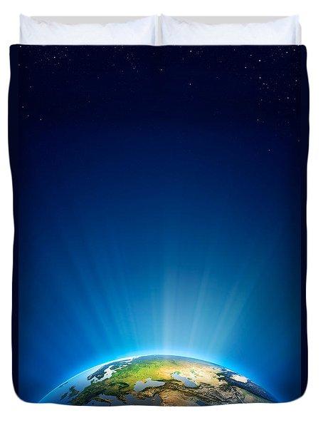 Earth Radiant Light Series - Europe Duvet Cover by Johan Swanepoel