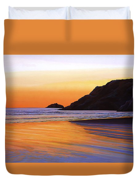Earth Sunrise Sea Duvet Cover by Paul  Meijering
