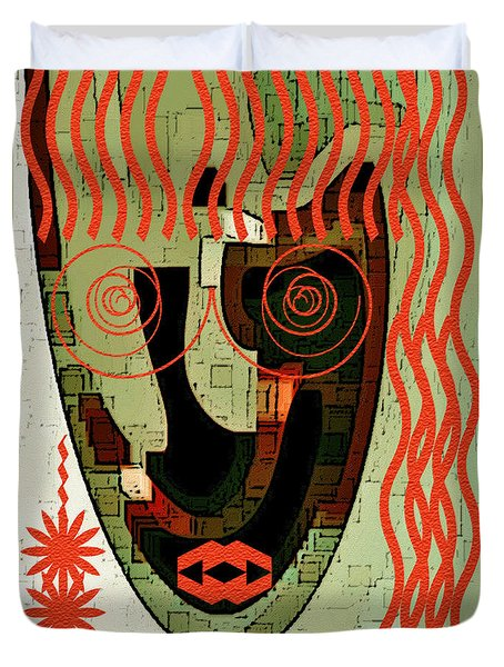 Earthy Woman Duvet Cover by Ben and Raisa Gertsberg