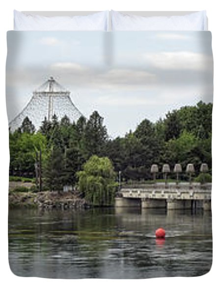 East Riverfront Park And Dam - Spokane Washington Duvet Cover by Daniel Hagerman