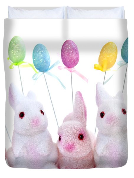 Easter bunny toys Duvet Cover by Elena Elisseeva