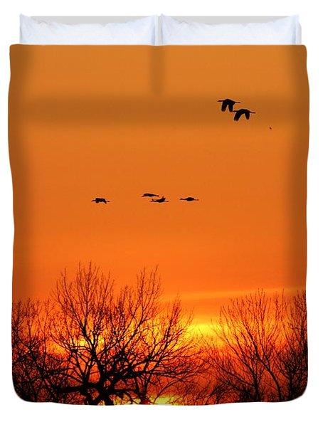 Easter Sunrise Duvet Cover by Elizabeth Winter