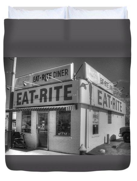Eat Rite Diner Duvet Cover by Jane Linders