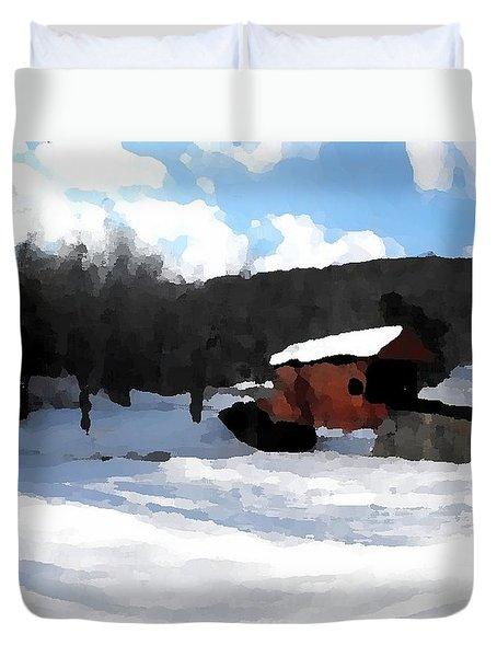 Ebenezer Bridge in Winter Duvet Cover by Spencer McKain