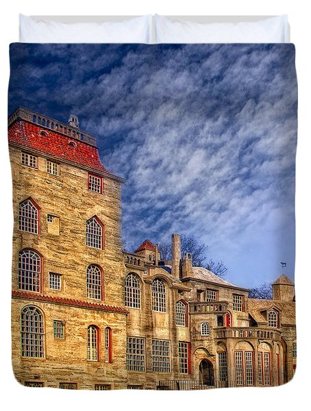 Eclectic Castle Duvet Cover by Susan Candelario