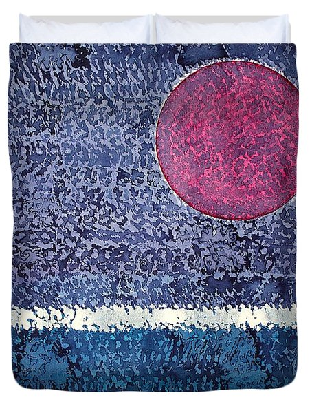 Eclipse Original Painting Duvet Cover by Sol Luckman