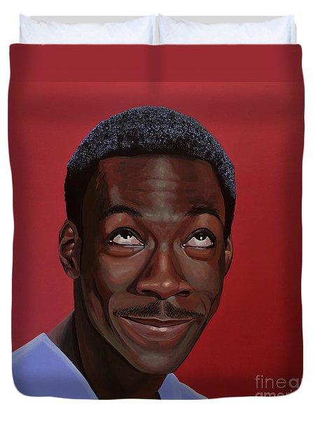 Eddie Murphy Painting Duvet Cover by Paul Meijering