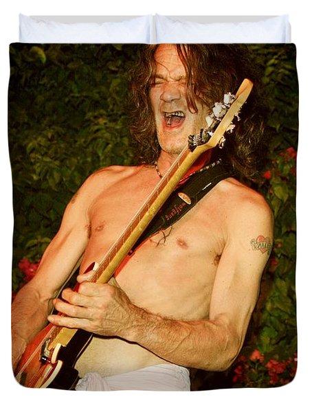Eddie Van Halen Duvet Cover by Nina Prommer