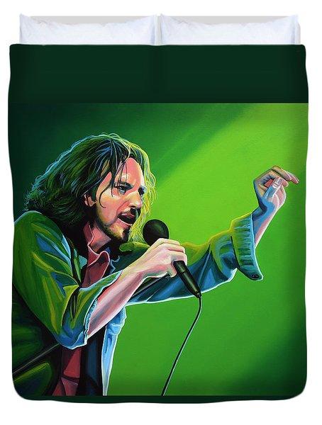 Eddie Vedder of Pearl Jam Duvet Cover by Paul Meijering