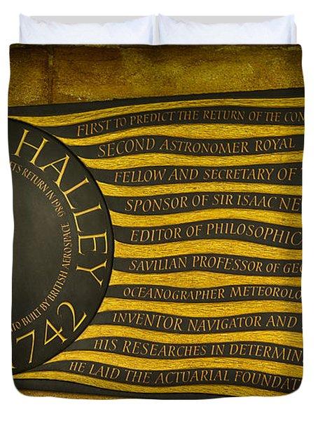 Edmond Halley Memorial Duvet Cover by Stephen Stookey