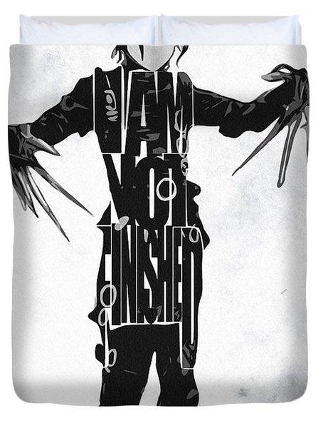 Edward Scissorhands - Johnny Depp Duvet Cover by Ayse Deniz