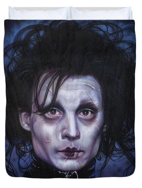 Edward Scissorhands Duvet Cover by Tim  Scoggins