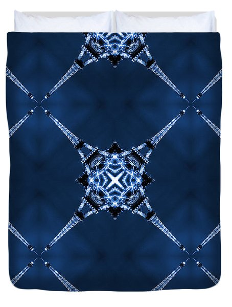Eiffel Art 14 Duvet Cover by Mike McGlothlen