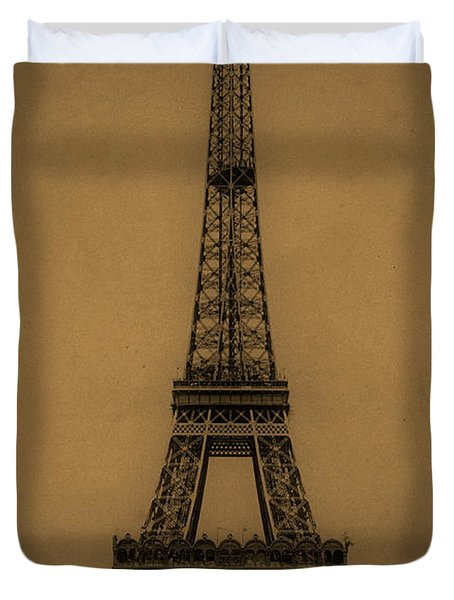 Eiffel Tower 1889 Duvet Cover by Andrew Fare