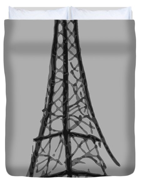Eiffel Tower Lines Duvet Cover by Robyn Saunders