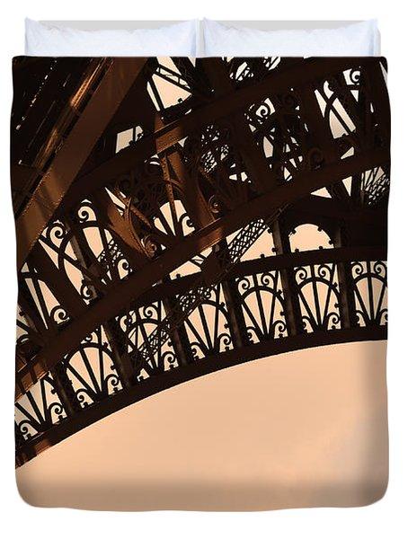 Eiffel Tower Paris France Arc Duvet Cover by Patricia Awapara