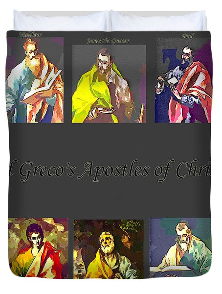 El Greco's Apostles Of Christ Duvet Cover by Barbara Griffin