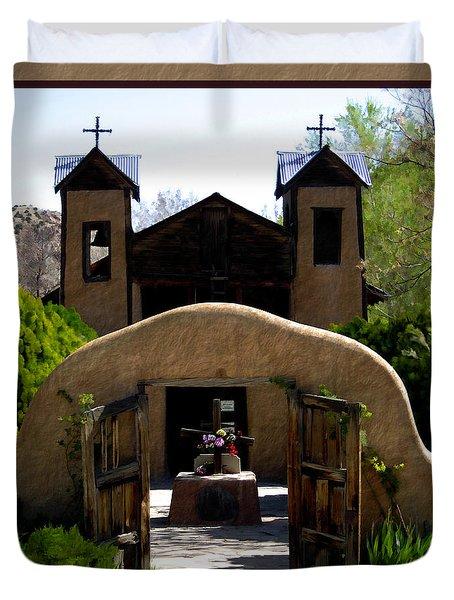 El Santuario de Chimayo Duvet Cover by Kurt Van Wagner