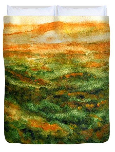 El Yunque Rainforest Duvet Cover by Zaira Dzhaubaeva