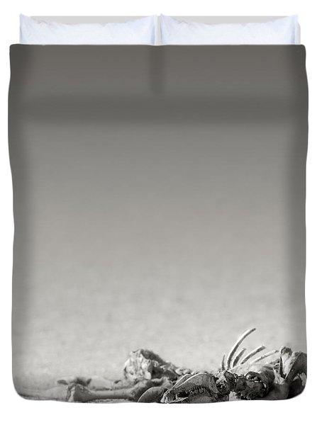 Eland skeleton in desert Duvet Cover by Johan Swanepoel