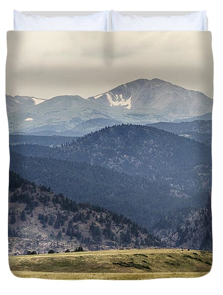 Eldorado Canyon And Continental Divide Above Duvet Cover by James BO  Insogna